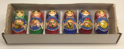 Russian Hospitality Hand Drawn Wooden Christmas Toys