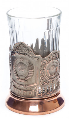 State Emblem of USSR Pure Copper Tea Glass Holder (by Kolchugino)