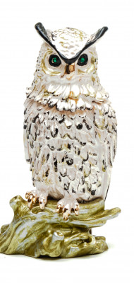 80 mm Owl White Jewellery Box