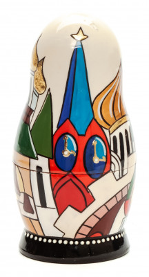 110 mm Moscow Cathedrals by Lentuloff hand painted wooden Russian Matryoshka doll (by A Studio)