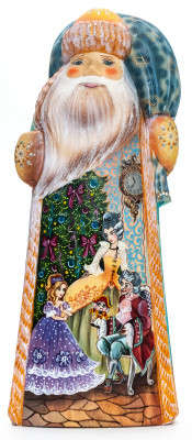 230 mm Marie and Nutcracker hand painted Wooden Carved Statue of Santa (by Igor Crafts)