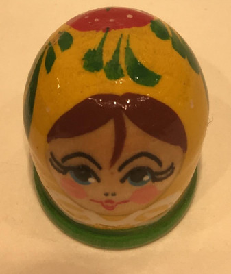 Matryoshka Hand Painted Wood Finger Thimble