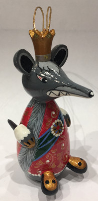 100 mm The Mouse King hand carved and painted wooden Statue (by Andrey Crafts)