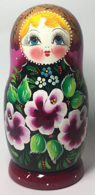 180 mm Maidan Patterns hand painted Wooden Matryoshka Doll 5 pcs (by Mihail Matryoshka Studio)