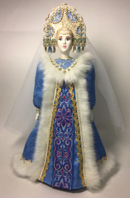 260 mm Snowmaiden Princess Porcelain Statue Doll (by Le Russe)