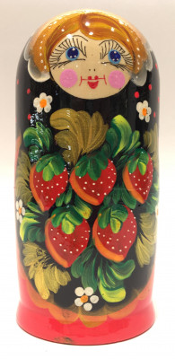 Khokhloma Art Hand Painted Matryoshka Doll 5 pcs