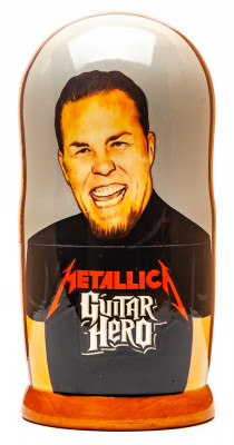 180mm Metallica Hand Painted Matryoshka Doll 5 pcs (by Konstantin Studio)