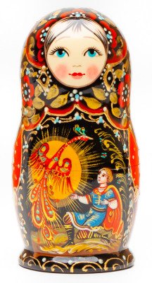 110 mm The Firebird hand painted on wooden Matryoshka doll 5 pcs (by A Studio)