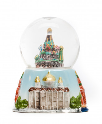 Moscow Attractions Snow Globe