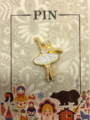 Ballerina Metal Pin (by AKM Gifts)