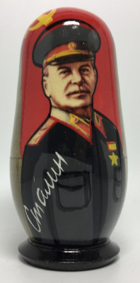 120mm Stalin Lenin Brezhnev Gorbachev Putin Matryoshka Doll 5 pcs (by 3A Studio)
