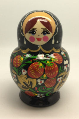 Khohloma Hand Painted Matryoshka Doll 5pcs