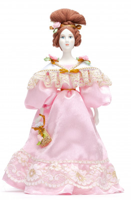 Molly Porcelain Doll in a Ball Outfit - 11 Inches (by Le Russe)