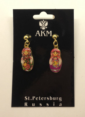 Russian Matryoshka Earrings