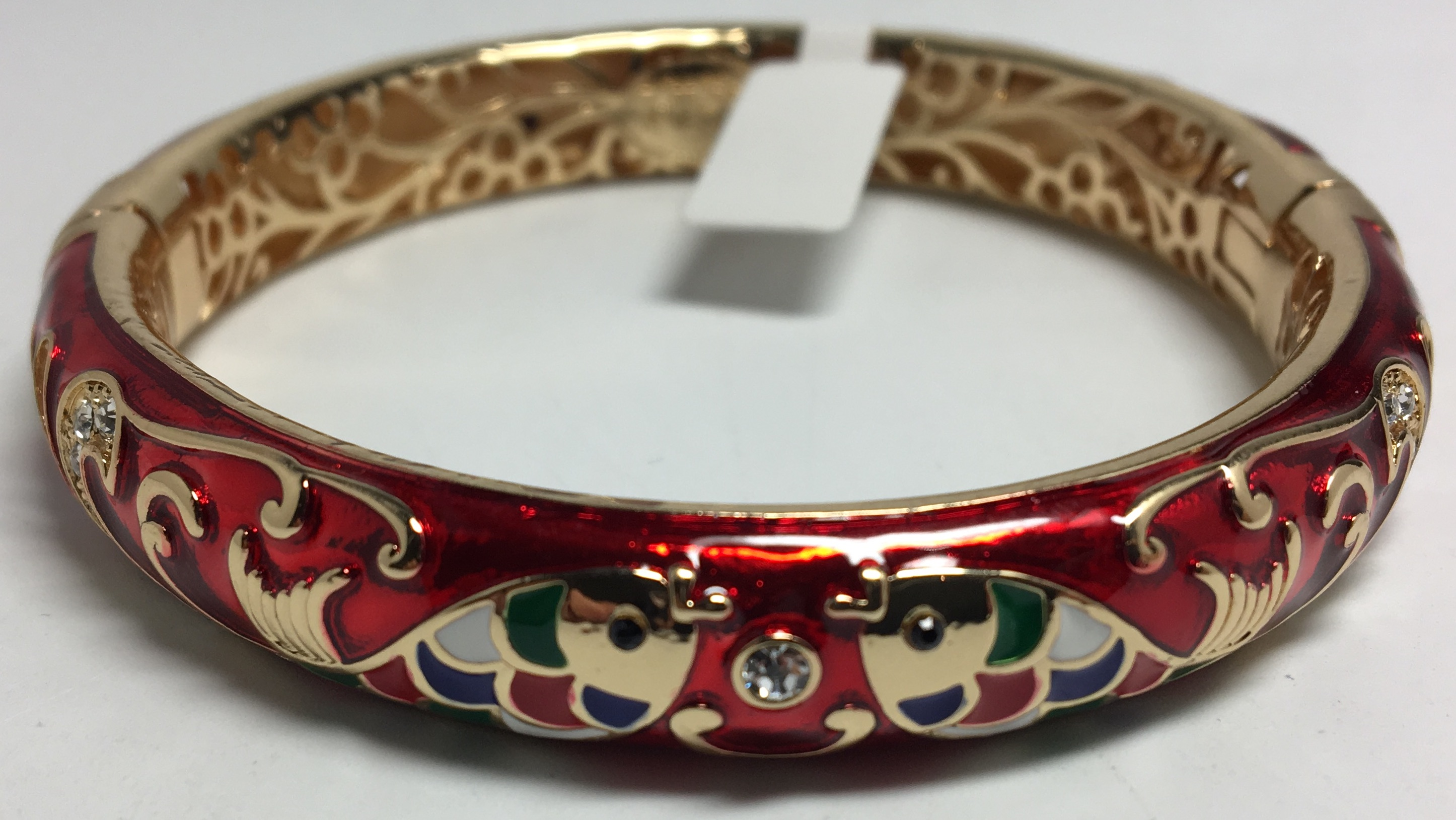 Fish Red Bracelet with Enamel (by AKM Gifts)