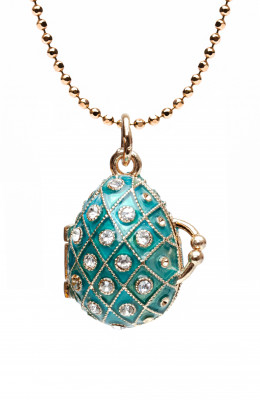 Mesh Opening Light Blue Egg Pendant