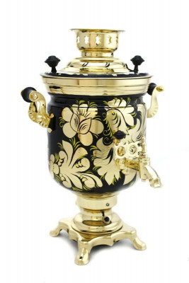 Golden Rooster Hand Painted Electric Samovar Kettle
