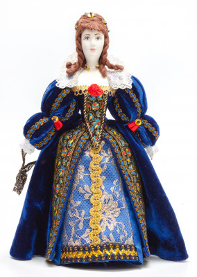Anne of Austria hand made Porcelain Doll - 11 Inches (by Le Russe)