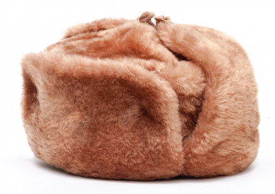 Russian Fur Ushanka Winter Hat (brown, any size)