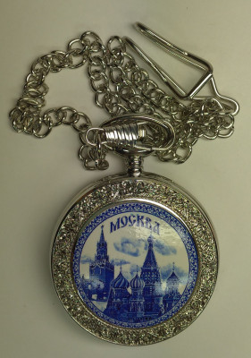Saint Basil Cathedral Silver Pocket Watch