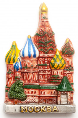 55x90 mm Saint Basil Cathedral Ceramic Fridge Magnet (by Skazka)