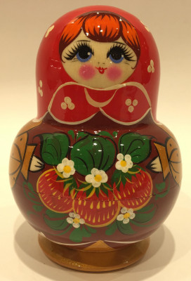Kirovskaya Hand Painted Matryoshka Doll 5 pcs