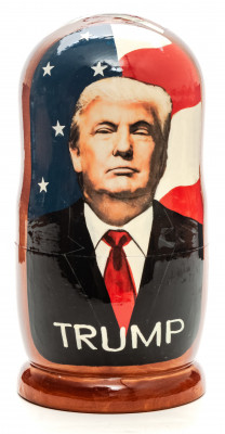180mm Donald Trump Hand Painted Matryoshka Doll 5 pcs (by Konstantin Studio)