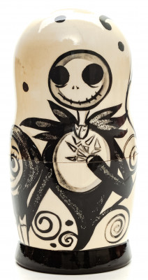 180mm Tim Burton's The Nightmare Before Christmas Hand Painted Matryoshka Doll 5 pcs (by Konstantin Studio)