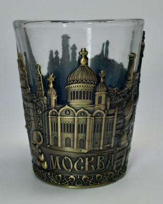 Metal Coated Moscow Bronze Shot Glass