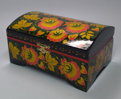 Khokhloma Painting Jewellery Wooden Box 150x100 mm