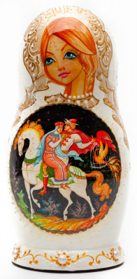 190 mm The Firebird handpainted Wooden Matryoshka Doll 5 pcs (by Sheherazade)