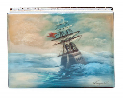 50x70mm The Storm Hand Painted Jewellery Box (by Tatiana Shkatulka Crafts)