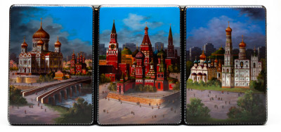 390x180mm Moscow Kremlin Hand Painted Jewellery Box (by Alexander G Studio)
