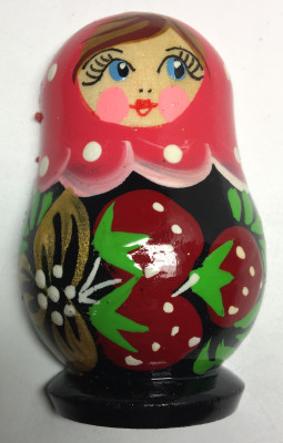 40x65 mm Russian Matryoshka hand painted Wooden Fridge Magnet (by Oleg Magnets)