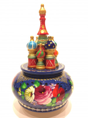 Saint Basil's Cathedral Zhostovo Art Music Box