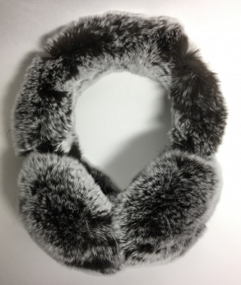 Brown Rabbit Hair Earmuff (by Skazka Furs)