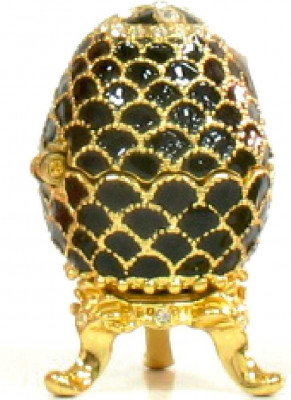 42 mm Black Pine Cone Easter Egg