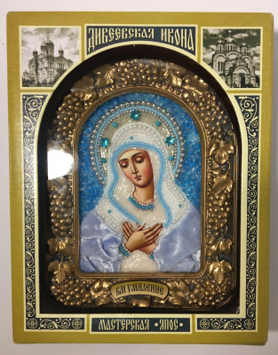 190x240 mm Tenderness Godmother Icon in wooden case with glass (by RA Souvenirs)