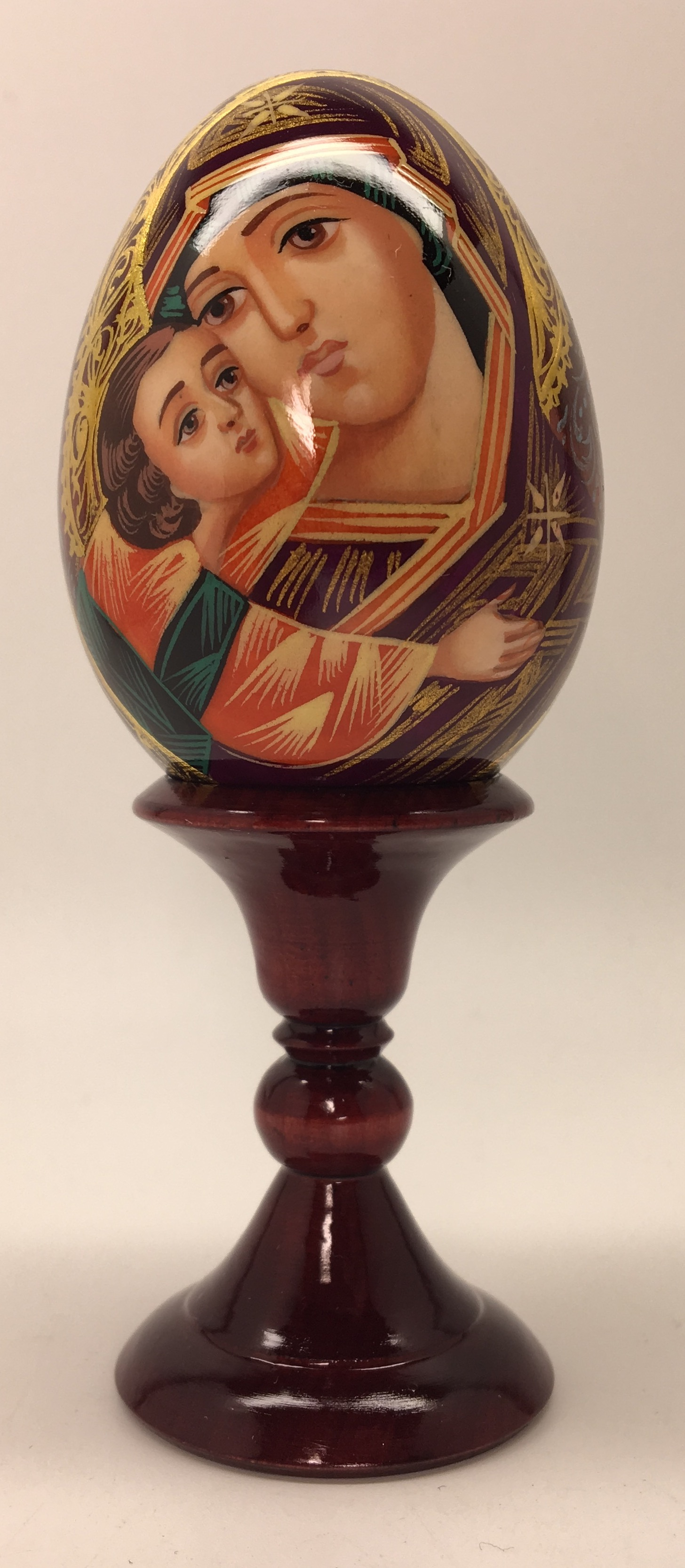 U Godmother hand painted on wooden egg (60mm) by Hamlet Crafts