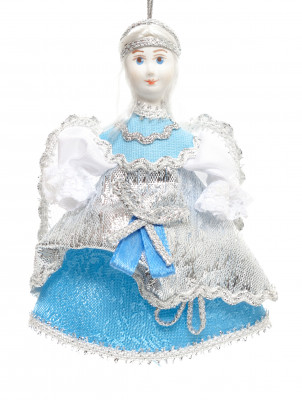 55x100 mm Little Angel hand sewn Porcelain Statue (by Le Russe)