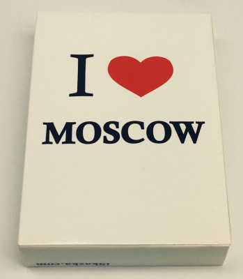 I Love Moscow Playing Cards