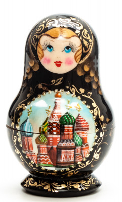 88 mm Moscow Snt Basil Cathedral hand painted wooden Matryoshka doll 5 pcs (by A Studio)