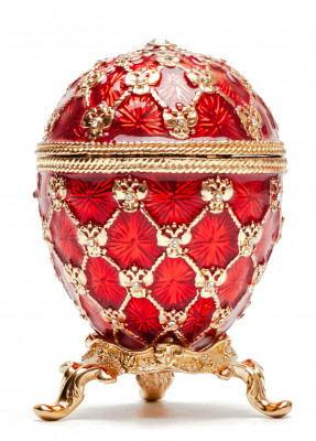 80 mm Clock and Red Imperial Coronation Music Easter Egg