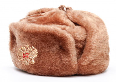 Russian Army Fur Ushanka Winter Hat (brown, any size)