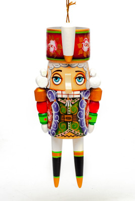 Nutcraker Hand Carved and Painted Wooden Christmas Tree Ornament (by `vladislav)