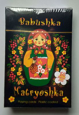 Matryoshka Playing Cards Black