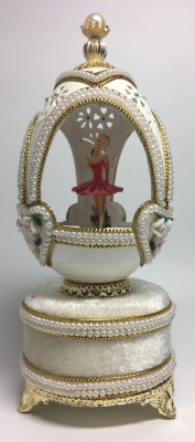 140 mm The Ballerina Goose Egg Faberge Egg with Pearl decorations (by AKM)
