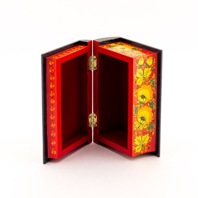 Khokhloma Painting Jewellery Wooden Box 175x110mm