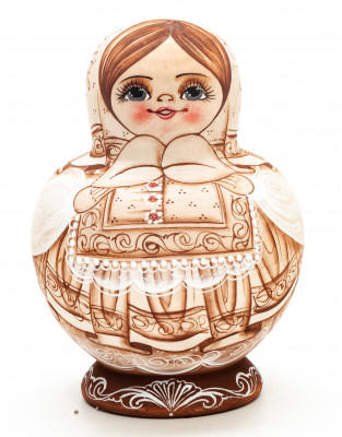 100mm Maiden hand painted Matryoshka round Doll 7pcs (by A Studio)