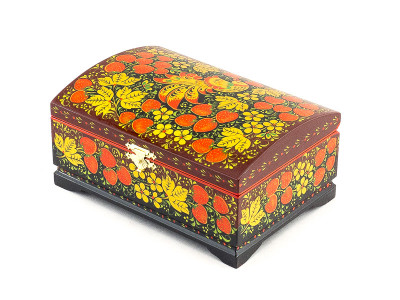 Khokhloma Painting Jewellery Wooden Box 200x140mm